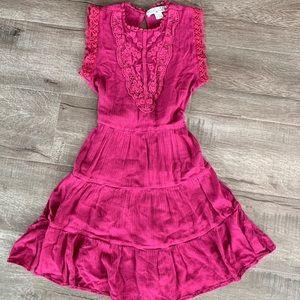 Other - Girls crinkle fabric lace insert boho dress